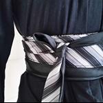 Men's Tie Belt Obi Belt Retro Vintage Reversible Belt Upcycled
